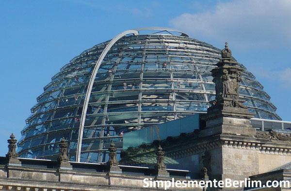 Resultado de imagem para O prédio e a cúpula do Reichstag