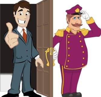 O jovem executivo e o porteiro