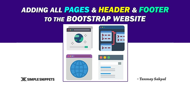 adding webpages with header and footer in bootstrap - featured image