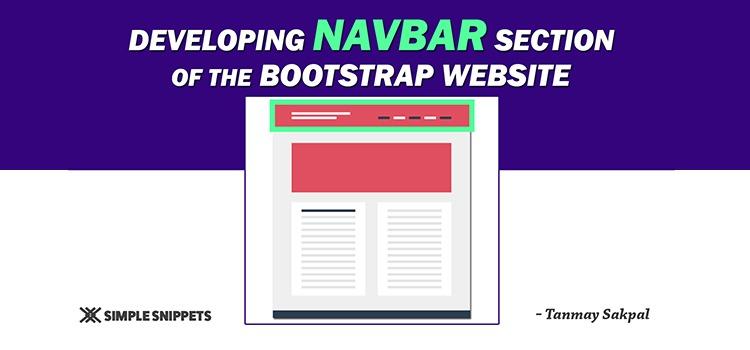 bootstrap navbar designing