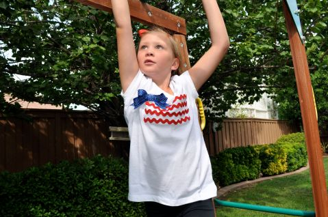 Little Girls American Flag Tee - Simple Sojourns