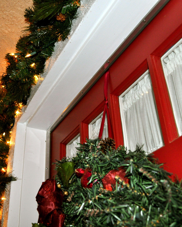 How to Hang a Door Wreath - Simple Sojourns