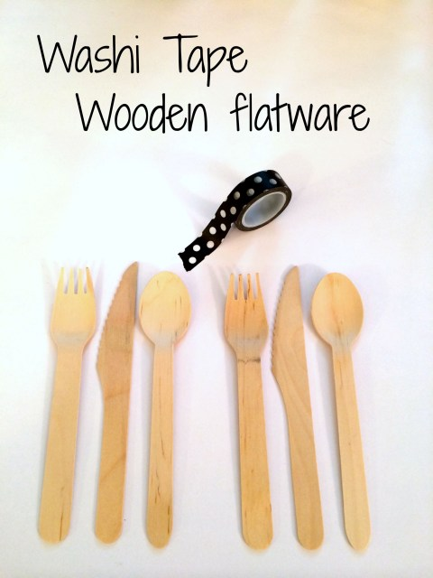 #DisneySide Washi Tape Wooden Flatware - SimpleSojourns