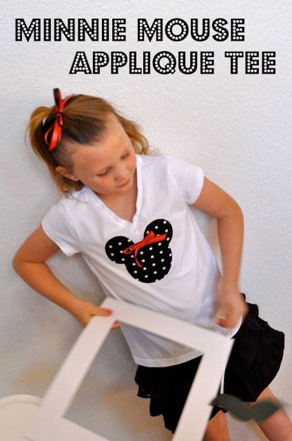 Minnie Mouse Applique Tee | Simple Sojourns