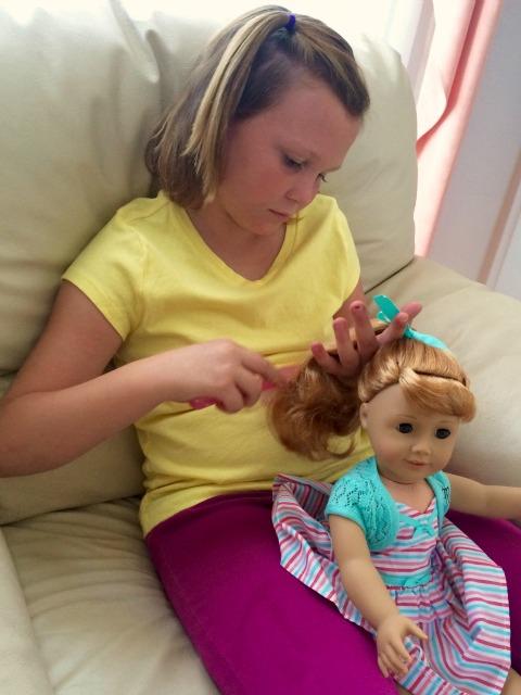 American Girl Maryellen Brushing Hair - Simple Sojourns
