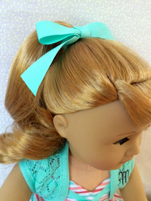 American Girl Maryellen Front Ponytail - Simple Sojourns