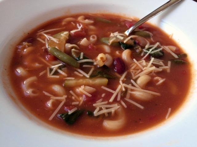 recipe: simple minestrone soup [38]