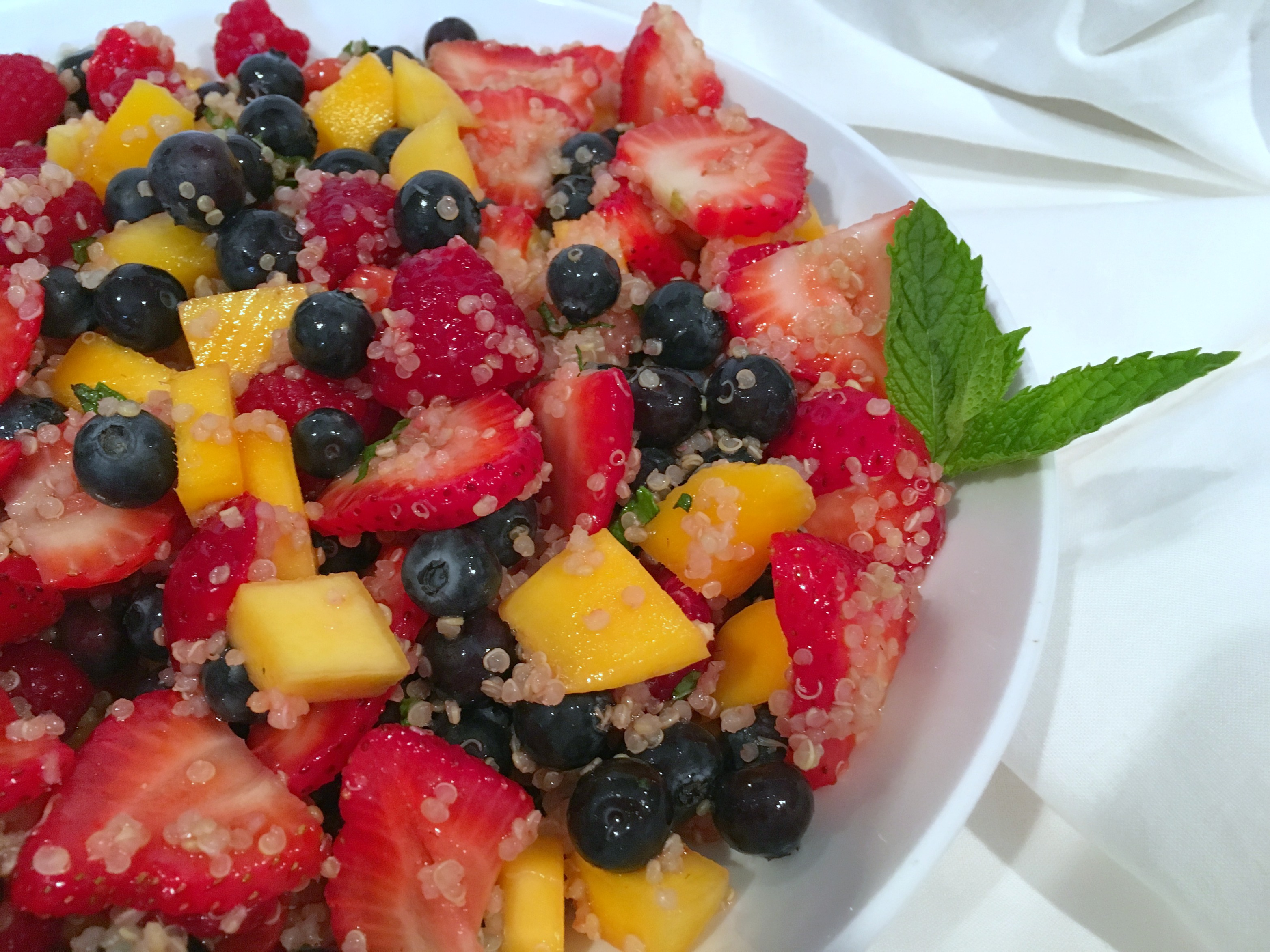 Agave Lime Quinoa Fruit Salad - Simple Sojourns