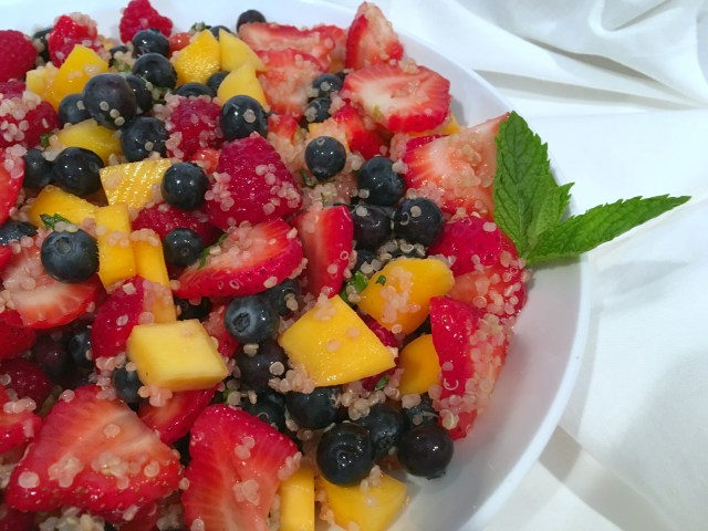 Agave Lime Quinoa Fruit Salad Mint - Simple Sojourns.jpg
