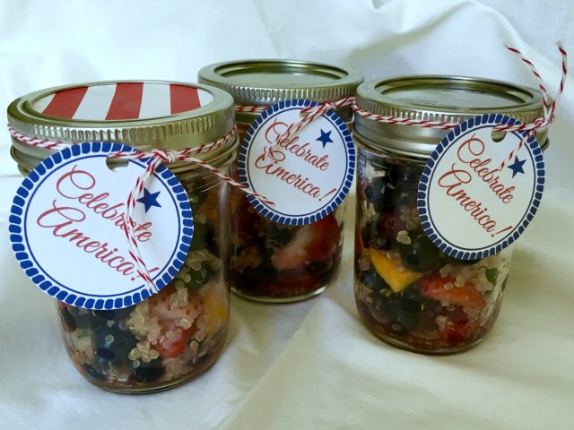 Agave Lime Quinoa Fruit Salad in a Jar - Simple Sojourns