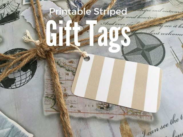 *Printable Striped Gift Tags - Simple Sojourns