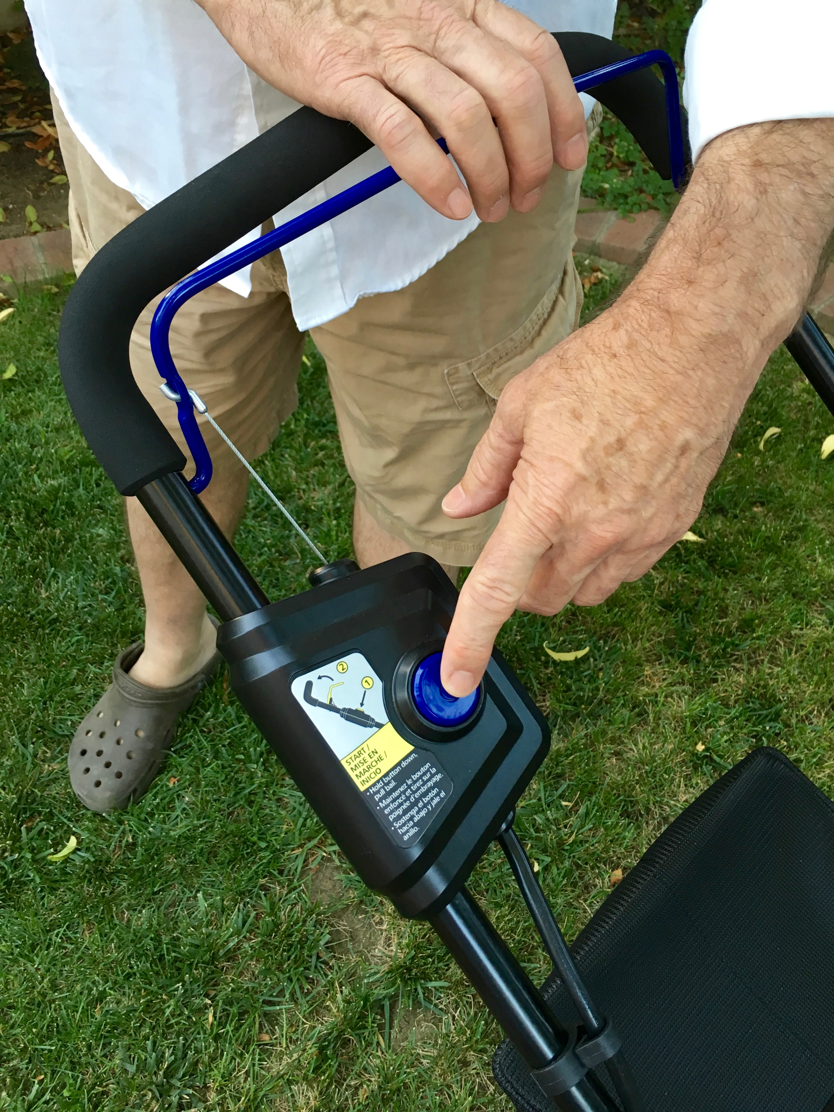 Kobalt Push Button Battery Operated Lawn Mower - Simple Sojourns