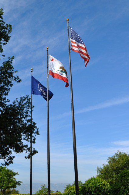 Ronald Reagan Library Flags - Simple Sojourns
