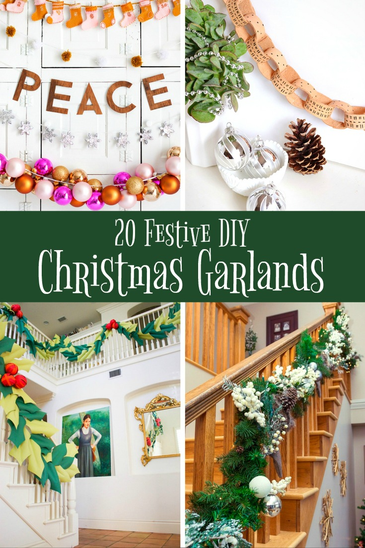 20 Festive DIY Christmas Garlands - Simple Sojourns