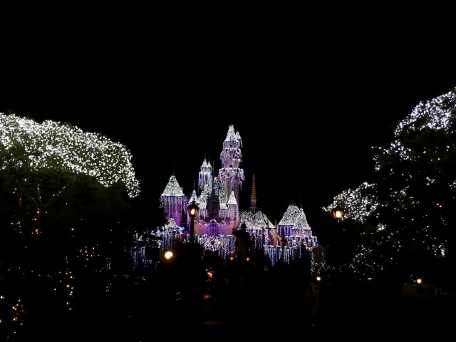 Disneyalnd Sleeping Beauty's Castle at Christmas - Simple Sojourns