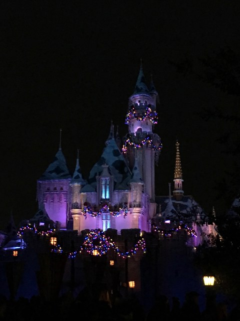 Sleeping Beauty's Castle at Christmas - Simple Sojourns