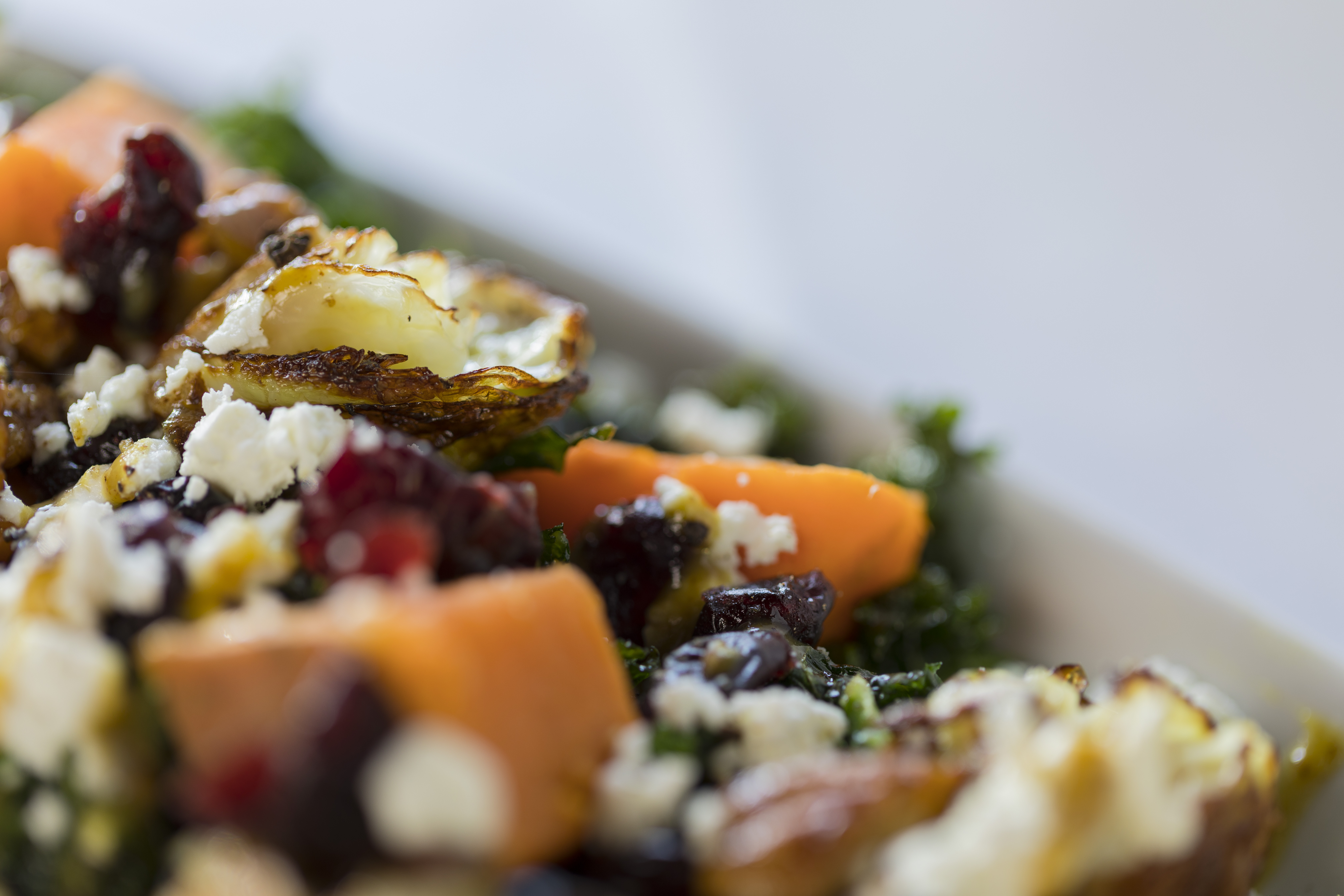 Evergreen Autumn - Roasted Greens and Sweet Potatoes with Maple Spicy Mustard Vinaigrette - Simple Sojourns