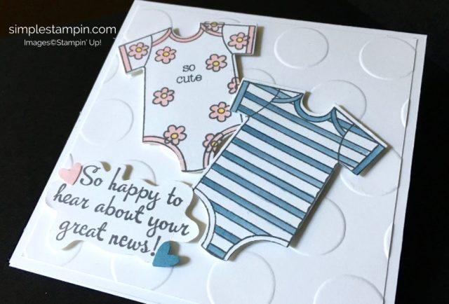 Stampin' Up! Baby Card, Made with Love Stamp Set, Aqua Painters, Happy Happenings Stamp Set, Susan Inteel - stampinup