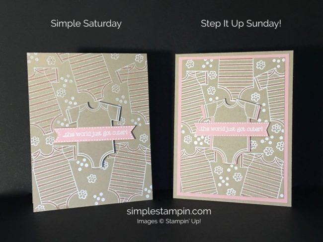 Stampin Up Made With Love Baby Girl Card - Susan Itell Stampinup