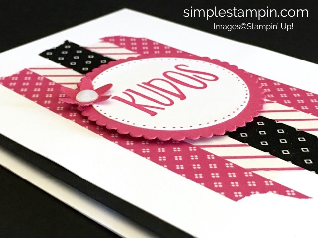 Stampin' Up! Perfectly Wrapped Photopolymer, Pop of Pink Washi Tape, Susan Itell - stampinup