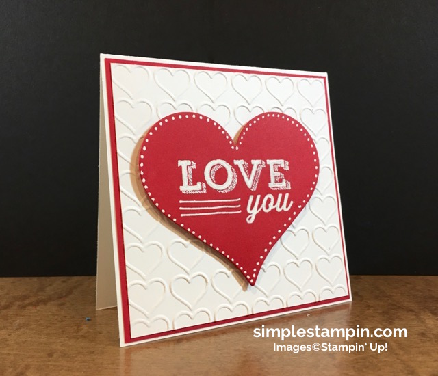 A Simple And Sweet Valentines Simple Stampin