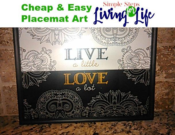 Cheap & Easy Placemat Art