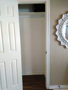 empty closet before simple shelf