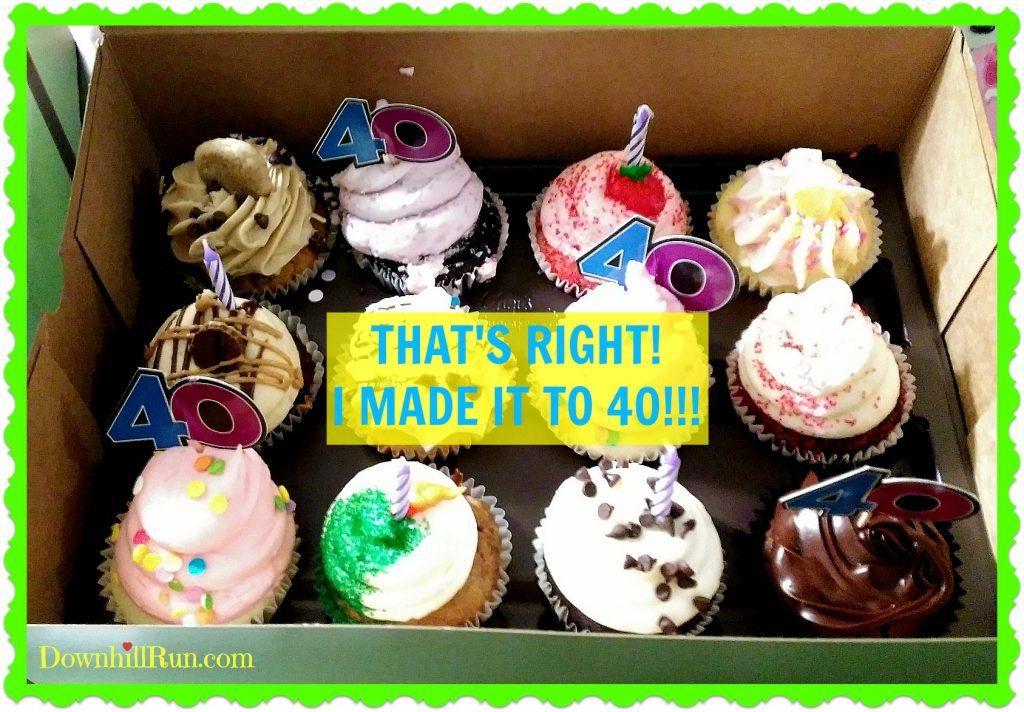 40th birthday, GiGi cupcakes