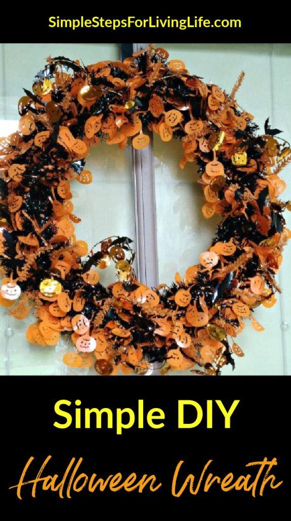 simple halloween wreath tutorial