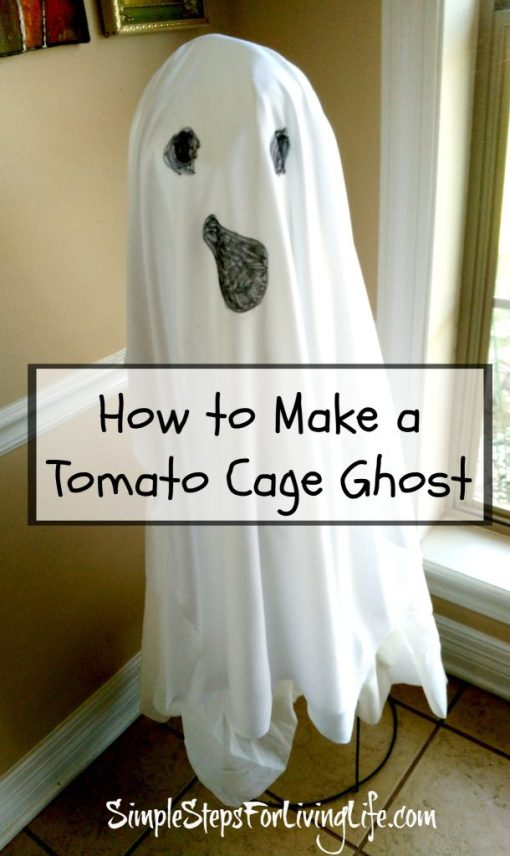 tomato cage ghost, craft