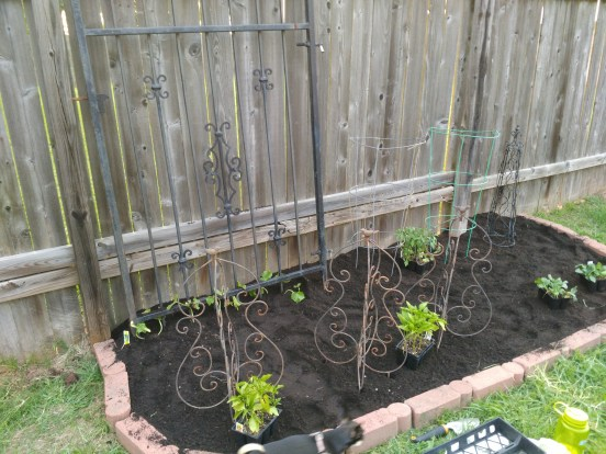 How to make a garden from reused items