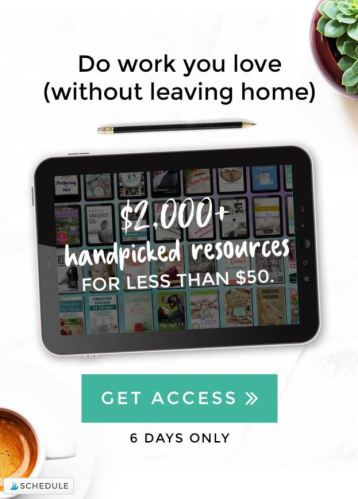 Check out the Ultimate Work at Home Bundle full of great resources.
