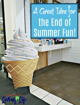A trip to get ice cream is a great idea for end of summer fun!