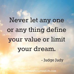 Judge Judy words of wisdom