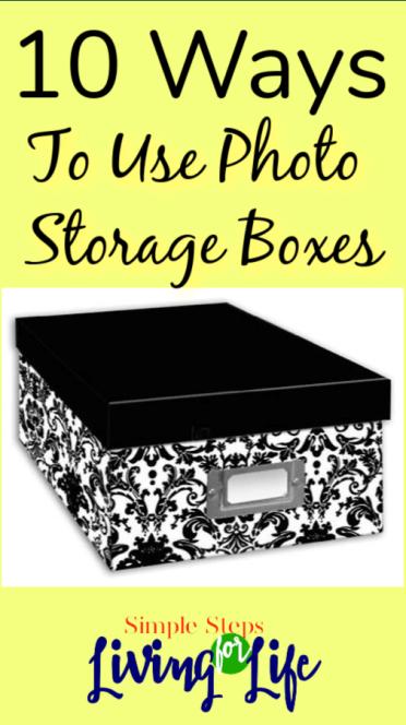 10 ways to use photo storage boxes