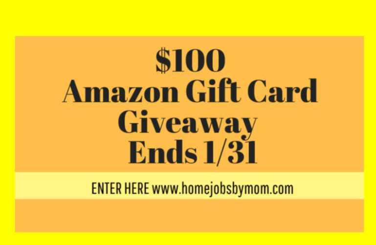 $100 Amazon Giftcard Giveaway – ends 1/31
