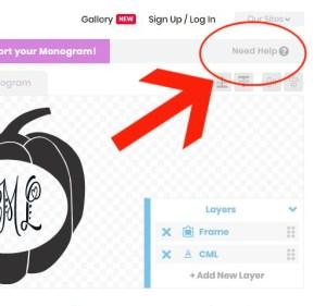 tips for an easy peasey monogram maker
