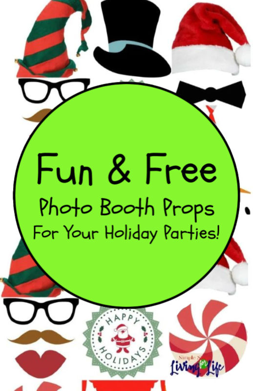 Photo props for holiday photo booth