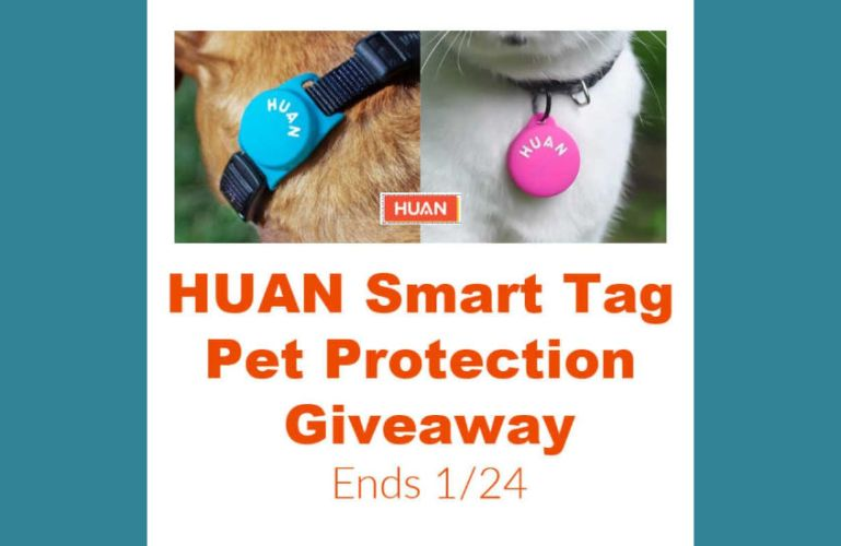 Huan Smart Tag Pet Protection Giveaway Ends 1/24