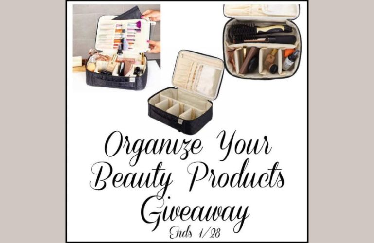 Organize Your Beauty Products Giveaway Ends 1/28