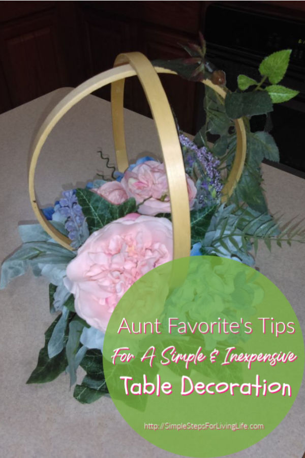 Tips to create simple & inexpensives Table Flower Arrangement 2