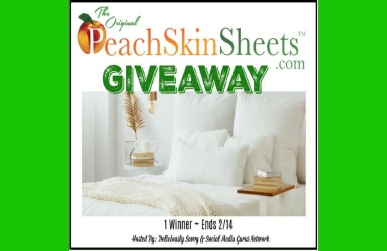 The Original PeachSkinSheets.com Giveaway Ends 2/14/2020