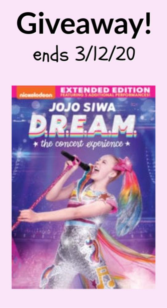 JOJO SIWA D.R.E.A.M. DVD GIVEAWAY ENDS 3/12