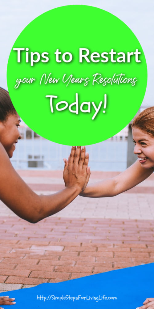restart your new years resolution today pinterest