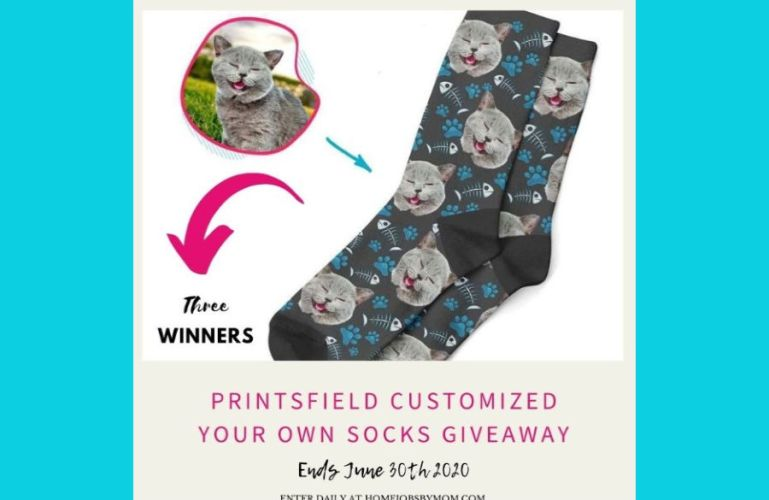 Printsfield Customized Your Own Socks Giveaway (Ends 6/30)
