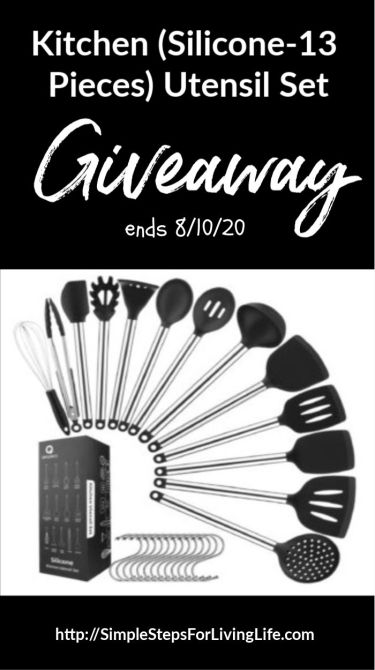silicone utensil set giveaway