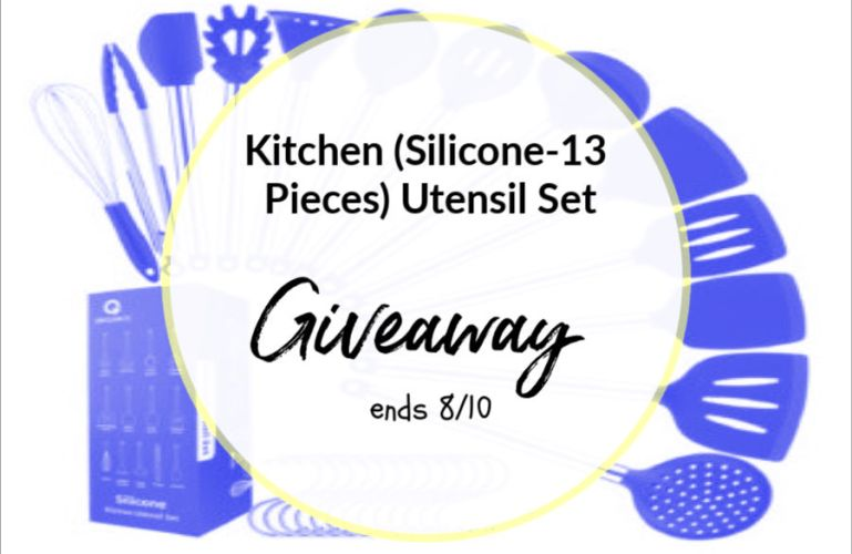 Kitchen (Silicone-13 Pieces) Utensil Set Giveaway ends 8/10