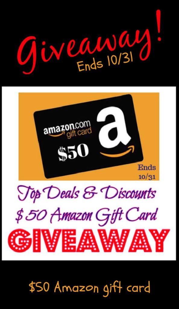 Amazon 50 giveaway pin