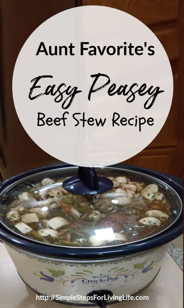 Easy peasey beef soup recipe