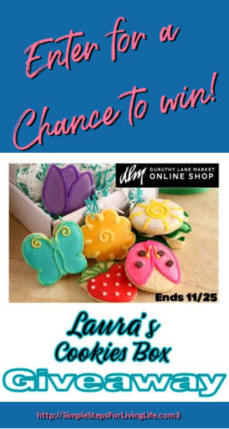 Lauras cookies box giveaway ends 11 25 2020 pin